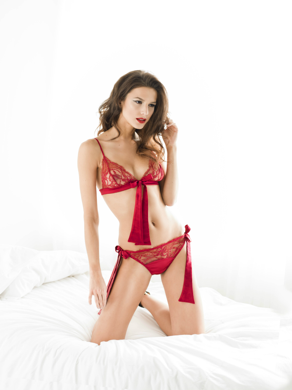 Fleur of England Amour boudoir bra and bow tie brief_edit
