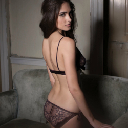 Hot Chocolate Boudoir bra and bow tie brief backshot-1200