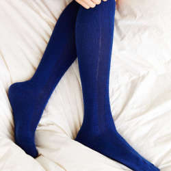 SOXIETY Cable-Knit Fur Knee-High Sock, $20, с ангорой