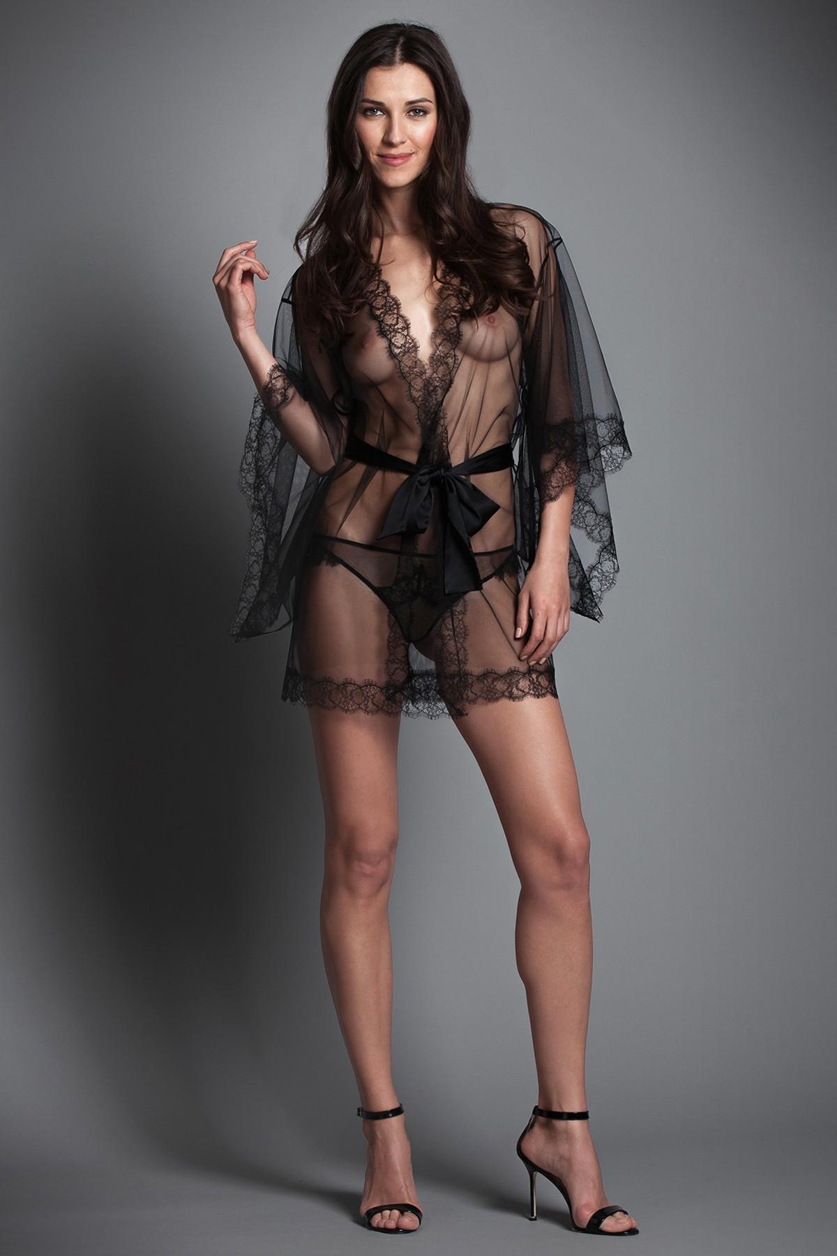 Kiki de Montparnasse, Sheer Lace Inset Robe, $1,100.00