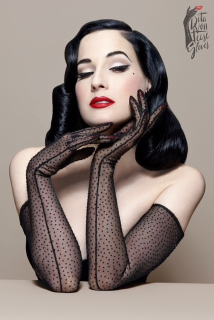 dita von teese the bon bon gloves перчатки Дита фон Тиз