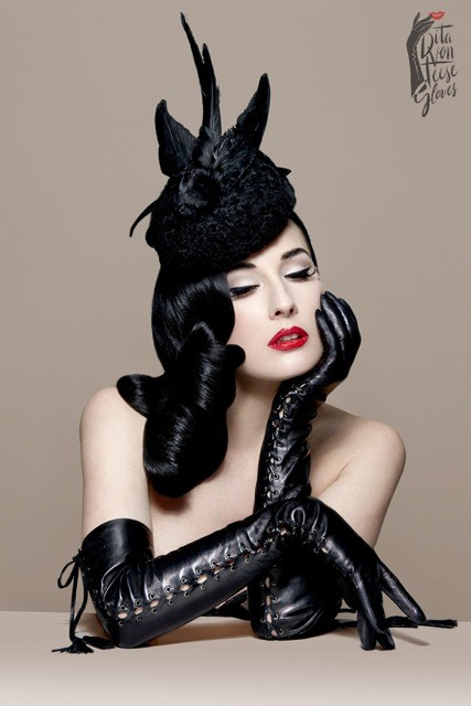dita von teese the fetiche gloves перчатки Дита фон Тиз
