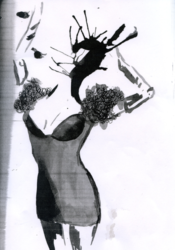 Fashion illustration for a university project. Karolina Laskowska