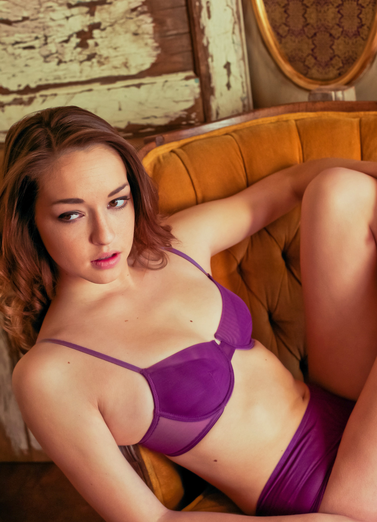 LulaLu Leya Purple Set lingerie нижнее белье