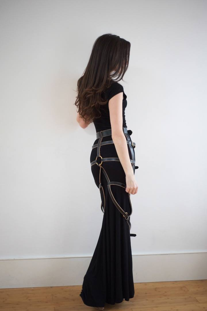 StyleOnTheCouch Wearing the Lampos Skirt Harness by William Williams