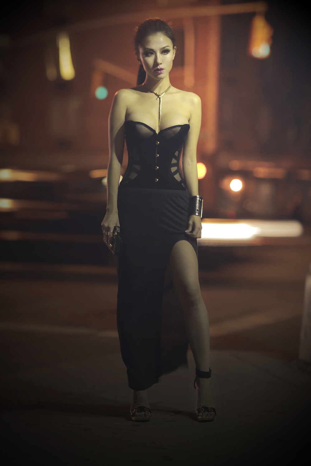 choker+necklace+corset+helmut+lang+long+skirt_s