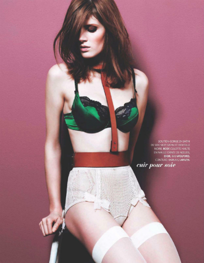 Keira Knightley and Madame Figaro, French Women Love Lingerie