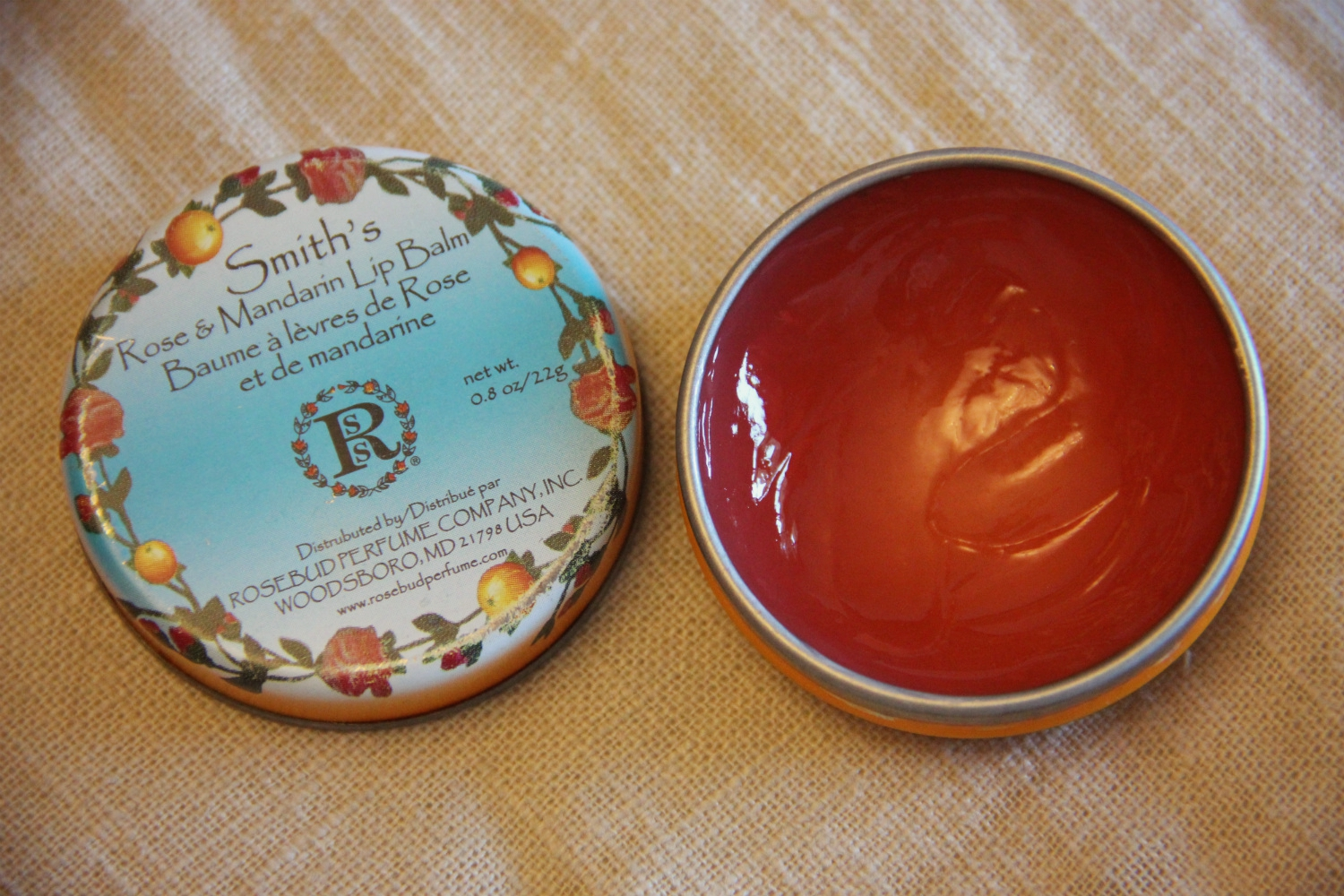 Блеск для губ Smith's Rose & Mandarin от Rosebud