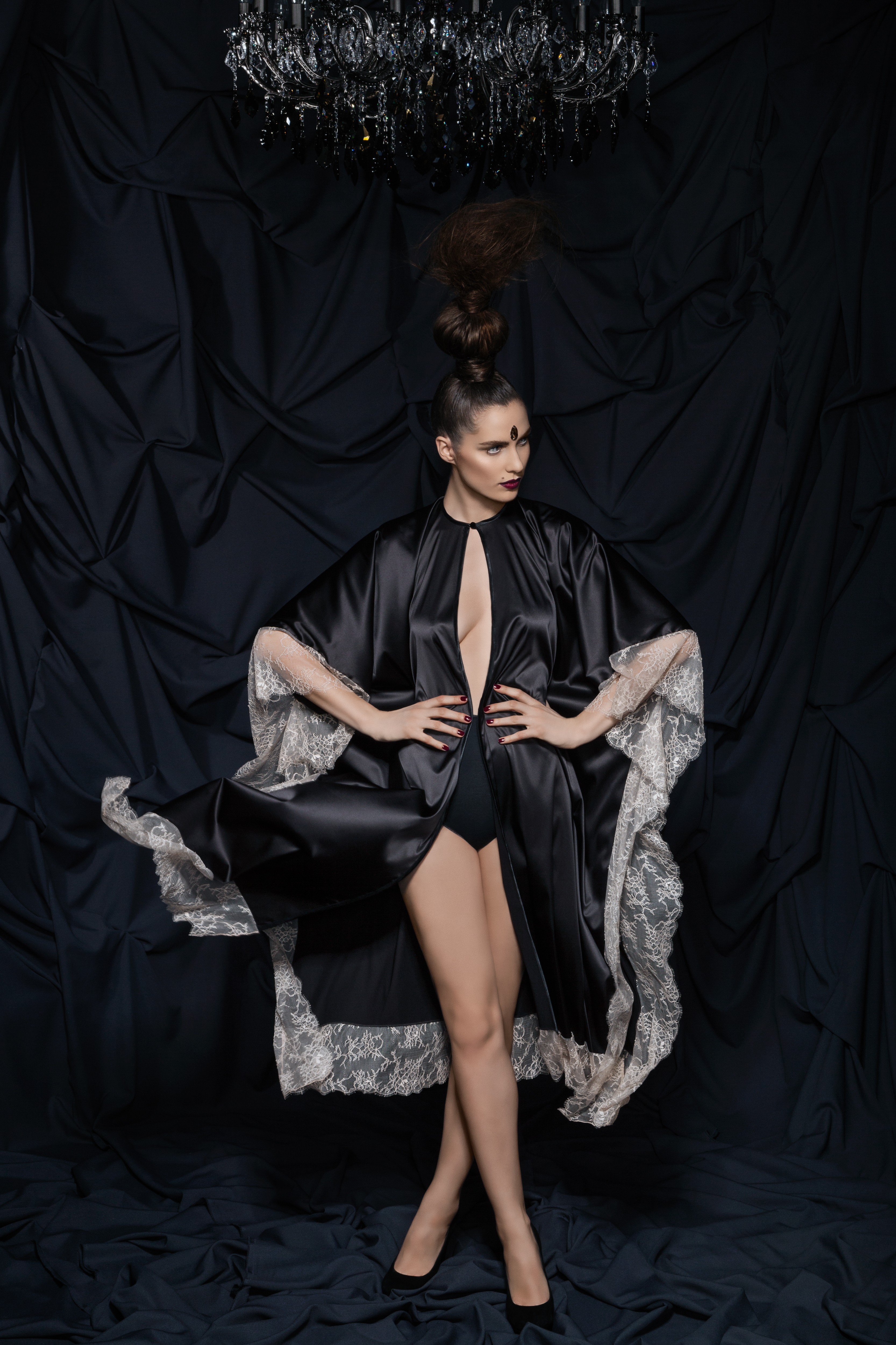 Black Tourmaline robe by Amoralle