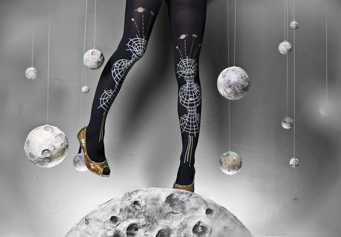 "Les Queues de Sardines tights, aw15, Collection ""Black Hole"""
