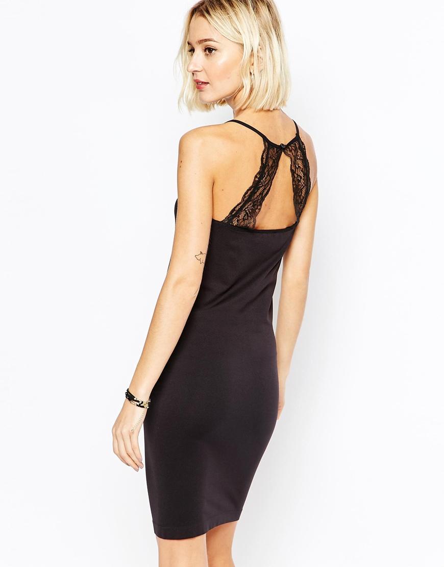 Черное облегающее платье Selected
