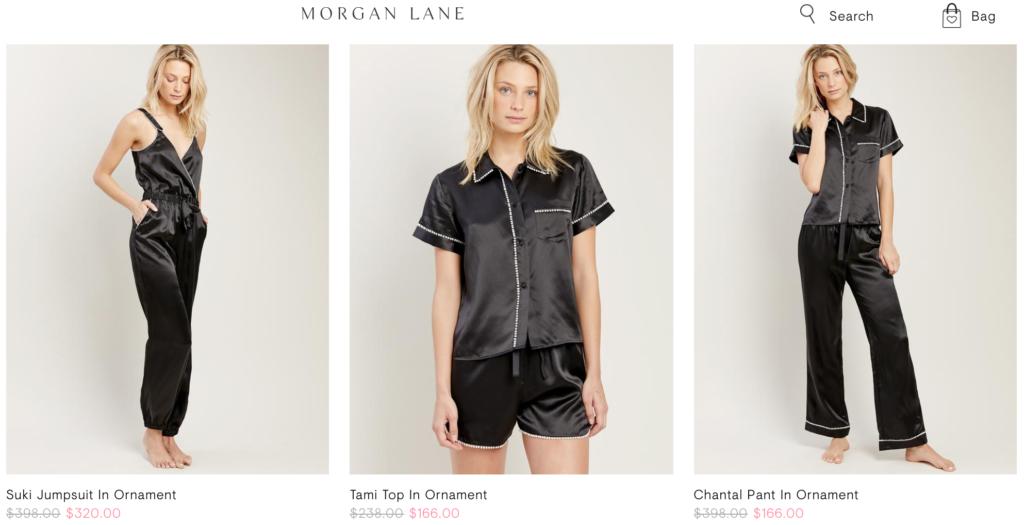 Распродажа белья Morgan Lane