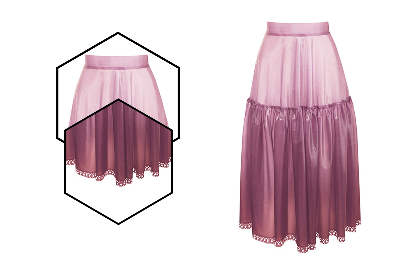Atsuko Kudo latex petticoat