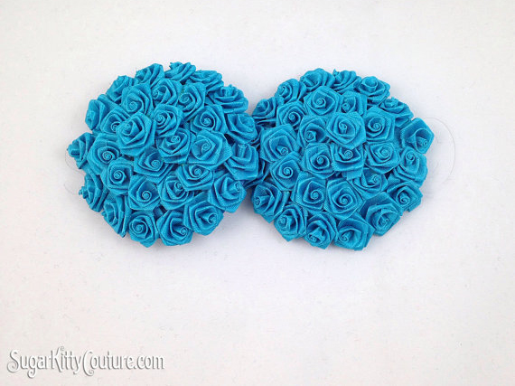 Round Ribbon Rose Nipple Pasties