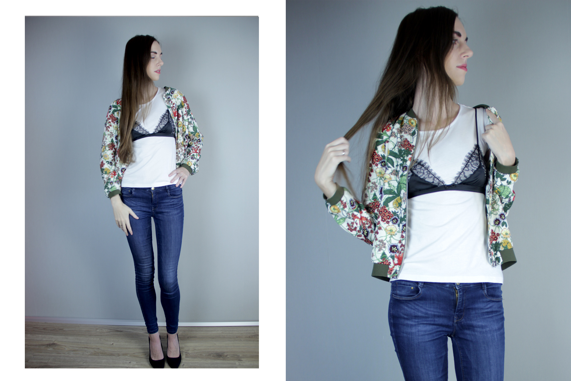 Нижнее белье в качестве верхней одежды. Показываю как стилизовать бюстгальтер верхним слоем поверх платья. Фото: Garterblog.ru
