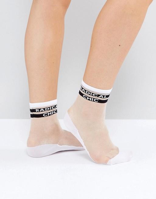 Полупрозрачные носки Monki Radical Chic 406,50 руб.