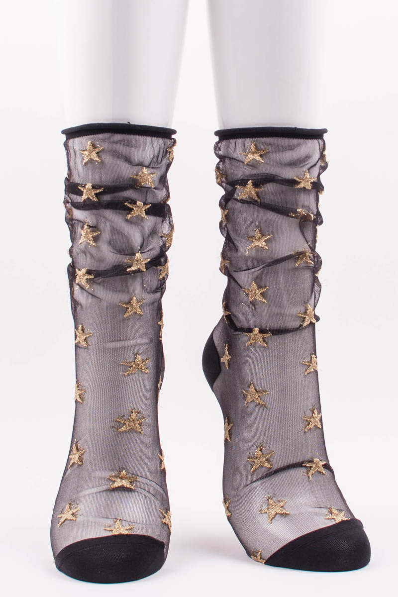Tabbisocks Clear Star Socks, $22.00