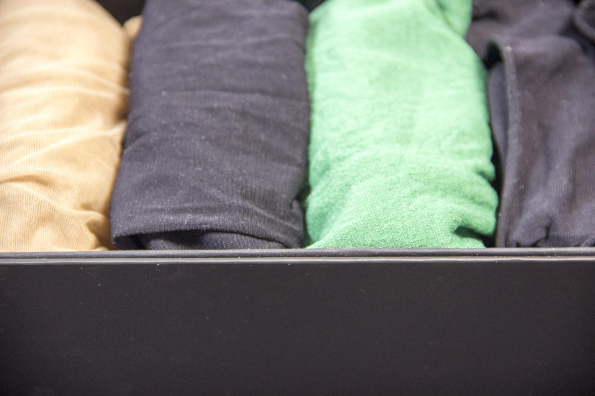 Как я организую нижнее белье. Коробка с чулками