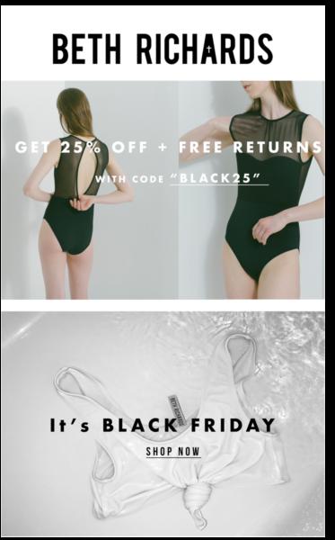Black Friday 2017: Лучшие скидки Чёрной пятницы на брендовое нижнее бельё Beth Richards