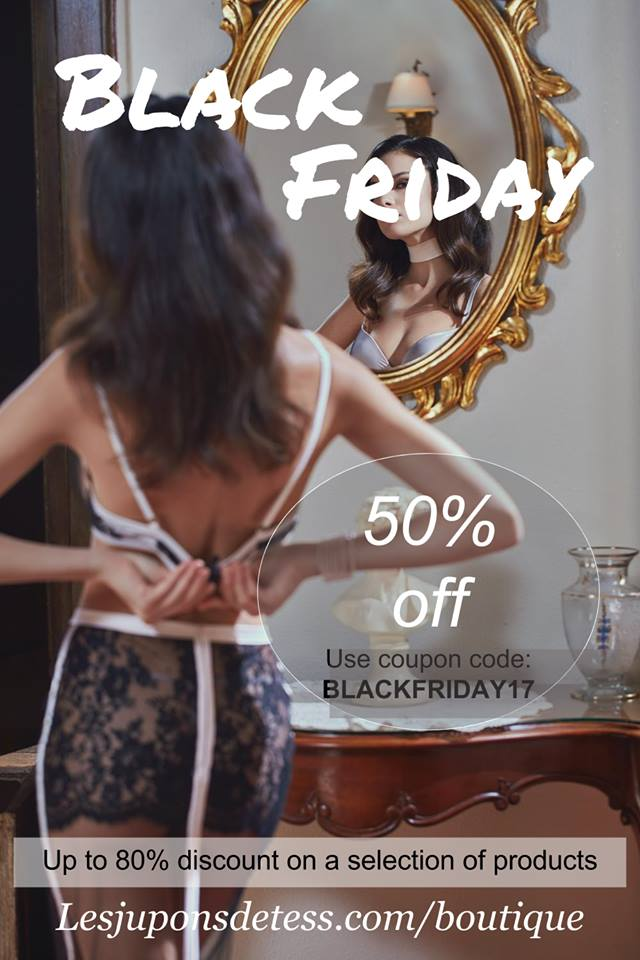 Black Friday 2017: Лучшие скидки Чёрной пятницы на брендовое нижнее бельё Les Jupons De tess