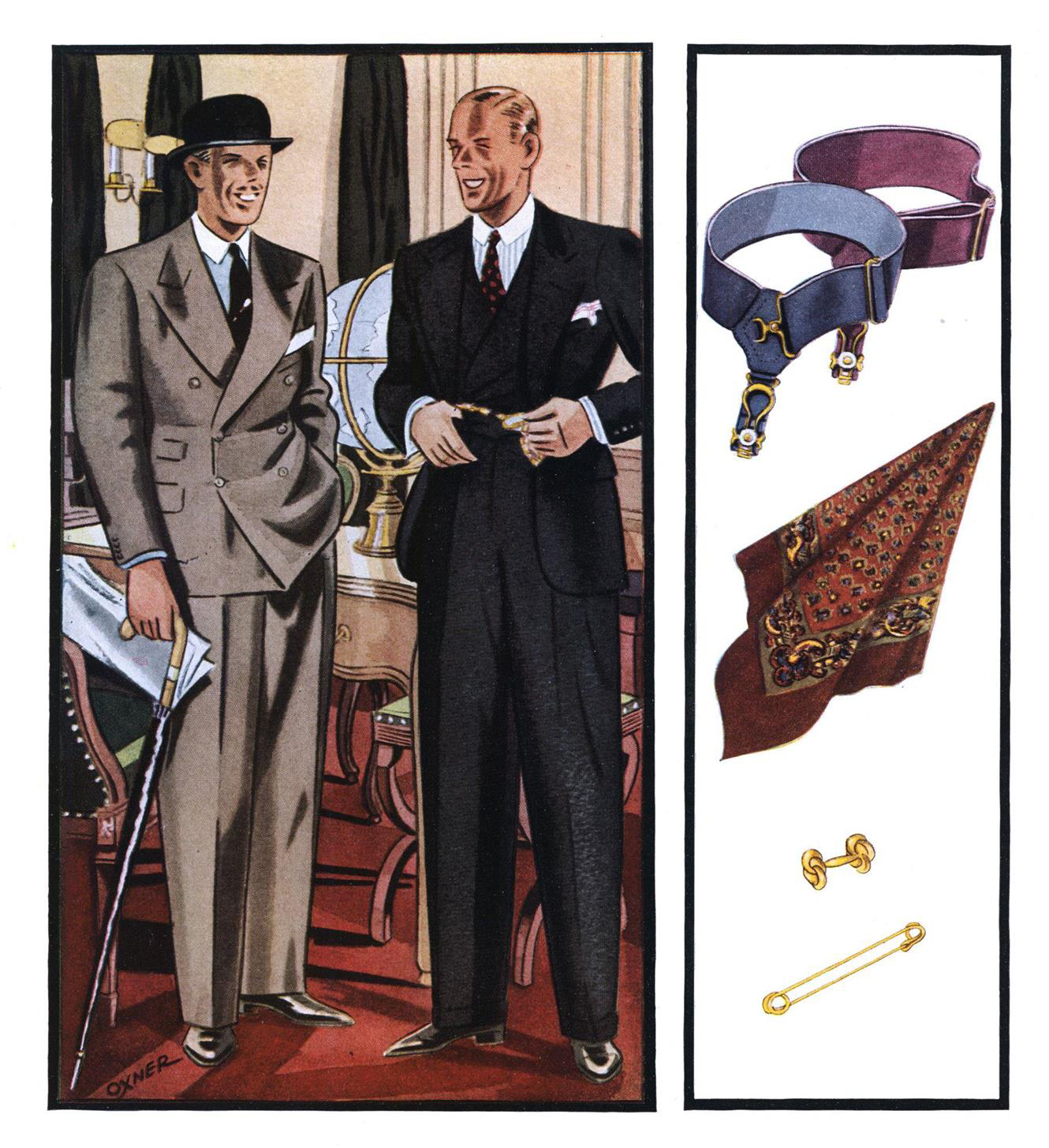 Esquire. sock garters feb 01 1934 Distinguished In Cut Even Though Common In Color_cr