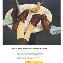 Esquire, June 1, 1956. Cooper's socks advertising