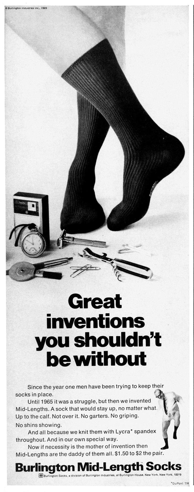 Esquire, 1 октября 1969 года. Реклама носков
