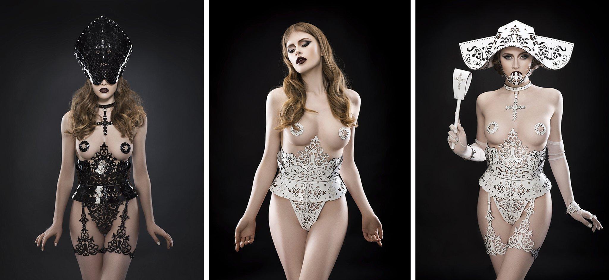 Перфорированная кожа в коллекции нижнего белья и аксессуаров Fraulein Kink Original Sin