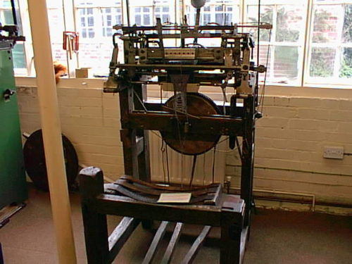 Stocking frame at Ruddington Framework Knitters' Museum