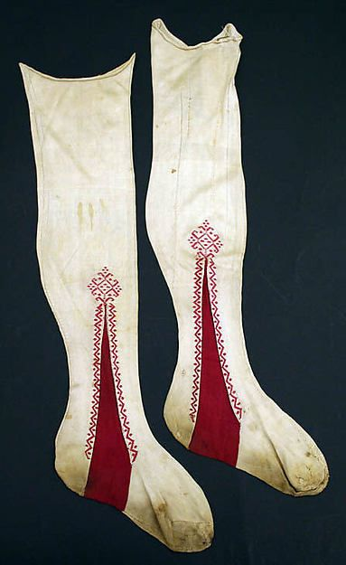 arly 19th century Italian silk stockings, Metropolitan museum
