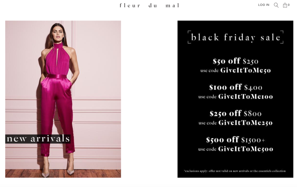 Скидки черной пятницы 2018 на брендовое нижнее белье Fleur du Mal