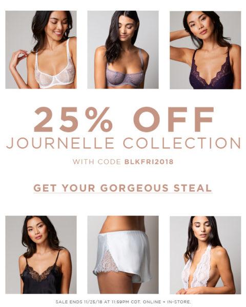 Скидки черной пятницы 2018 на брендовое нижнее белье в мультиюрендовом магазине Journelle
