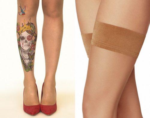Чулки StopAndStareCo с эффектом набитой татуировки. В этом магазине есть такие же колготки