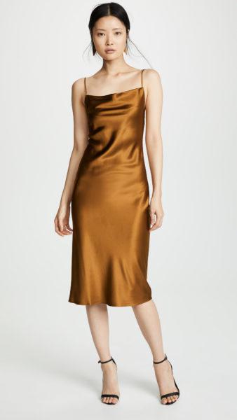 Платье-комбинация с воротником-хомутом Fleur du Mal