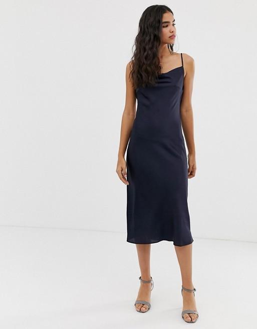Темно-синее платье-комбинация Miss Selfridge