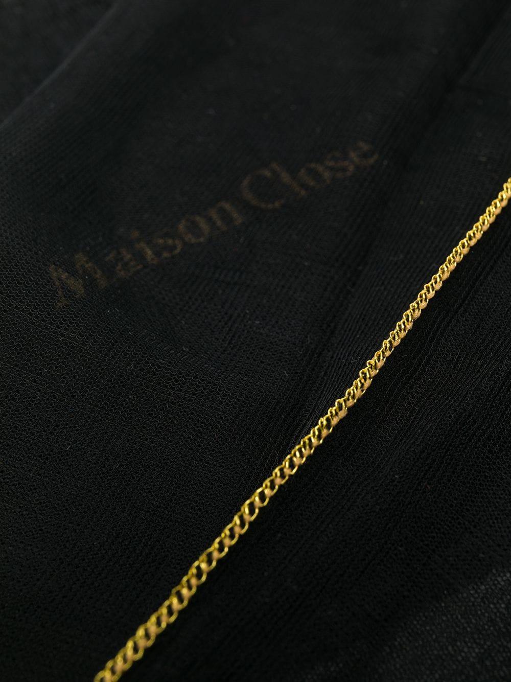 Чулки с золотой стрелкой Maison Close