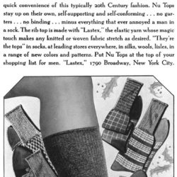 Esquire December 1, 1936. Advertisement of socks with lastex
